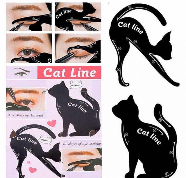 شابلون خط چشم و سایه طرح گربه برند cat line