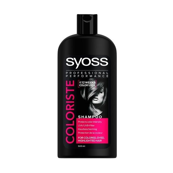 شامپو سایوس SYOSS مدل موهای رنگ شده COLORISTE حجم ۵۰۰ میلی لیتر